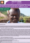 Investing in Social Protection in Uganda: The case for the expansion of the Senior Citizens' Grant