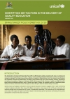 Identifying key factors in the delivery of quality education